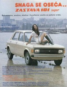 Arrived in the UK as a Zastava and then later sold as a Yugo, this was basically a Fiat 128 with a rear hatch in place of the regular boot. Fiat 128, Vintage Italian Posters, Vintage Ads, Automobile, Car Advertising, Old Cars, Cars And Motorcycles, Classic Cars, Classic Auto