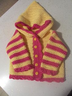 Sweet Baby Hoodie Crochet Pattern...I like the colours on the site.