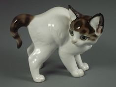 Antique Rosenthal German Porcelain Kitty Cat Figurine