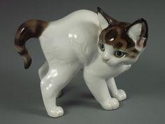 Antique Rosenthal German Porcelain Kitty Cat Figurine