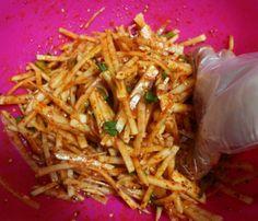 Radish Salad, Food Festival, Korean Food, Food To Make, Food And Drink, Menu, Cooking, Ethnic Recipes, Foods