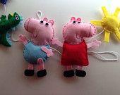 Inspired by Peppa Pig Girls Boys Bedroom Personalised Wall Hanger