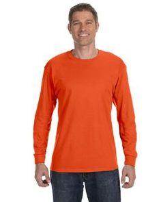 5.6 Oz. 50/50 Heavyweight Blend Long-Sleeve T-Shirt Black Heather - Xl