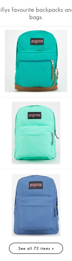 """""""Tillys favourite backpacks and bags."""" by crazygirlandproud ❤ liked on Polyvore featuring bags, backpacks, accessories, purses, mochilas, spanish teal, teal bag, blue bag, suede bag y blue suede bag"""