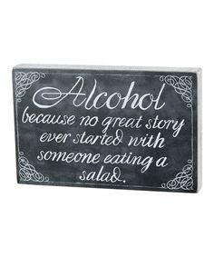 Look at this #zulilyfind! 'Great Story' Chalkboard Sign #zulilyfinds