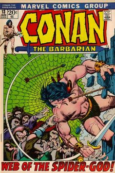 Conan the Barbarian marvel comic book cover art by Barry Windsor Smith Marvel Comic Books, Comic Books Art, Comic Art, Book Art, Conan Der Barbar, Conan The Barbarian Comic, Conan Comics, Story Titles, Silver Age Comics