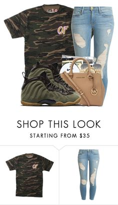 """Of "" by lit-lauryn ❤ liked on Polyvore featuring Frame Denim, Ray-Ban and NIKE"