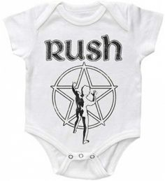 Rush Starman Grey Baby Bodysuit only $18.95 at #kiditude