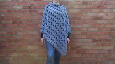 Ravelry: Bella Asymmetrical Poncho pattern by Clare M Crochet Poncho Patterns, Crochet Shawl, Crochet Lace, Crochet Hooks, Sweater Patterns, Crochet Ideas, Different Crochet Stitches, Aran Weight Yarn, All Free Crochet