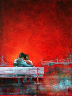 LOOKING FORWARD - Margarita Lypiridou - 40'' x 30'' - acrylique sur toile