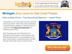 Bad Credit Auto Loans in Michigan