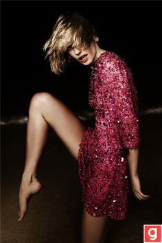 Great sparkly dress!