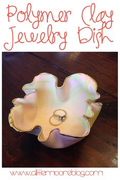 Looks like an open clam coral. Marbled Polymer Clay Jewelry Dish Tutorial