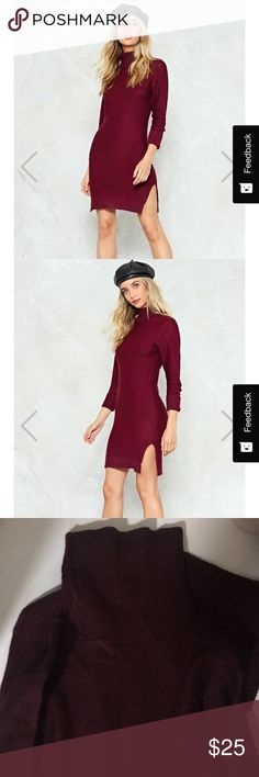 burgundy sweater dress new w tags sweater dress from nasty gal. size S Nasty Gal Dresses