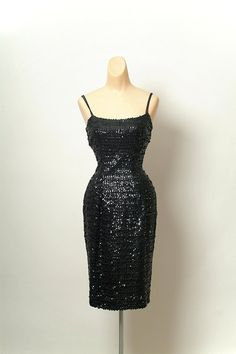Vintage Black Dress / 50s wiggle dress / by VintageBoxFashions, $350.00