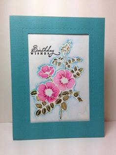 Sweet Briar Rose: SU!, watercolor, embossing, by beesmom - Cards and Paper Crafts at Splitcoaststampers
