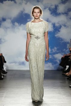 Wedding Dresses with Sleeves from the Spring 2015 Bridal Collection by Jenny Packham | via junebugweddings.com