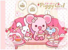 San-x Piggy Girl Strawberry Friends Mini Memo Pad