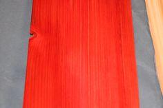 Dyed Red Hinoki Cypress Veneer