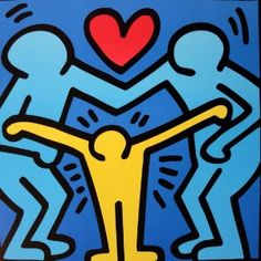 Keith HARING - Affiche d'art : Famille unie