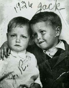 "Johnny Cash and his older brother, Jack, in 1936. The Cash boys grew up in the Dyess Colony in Arkansas and Johnny started picking cotton at age five. Many of his songs tell of the hard times his family experienced on the farm during the Depression. Sadly, Jack would pass away in 1944, and it's said Johnny never got over it -- perhaps we hear some of that in his music. Hit ""share"" to pass on the history from >> Old Photo Archive"