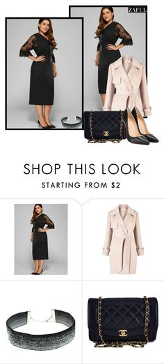 """""""Ladies of Society"""" by fshionme ❤ liked on Polyvore featuring Miss Selfridge, Chanel and Christian Louboutin"""