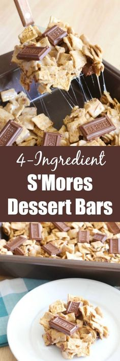 Pull out a few ingredients from your pantry and you'll have a quick and easy delicious dessert in just minutes with these 4-Ingredient S'mores Dessert Bars!