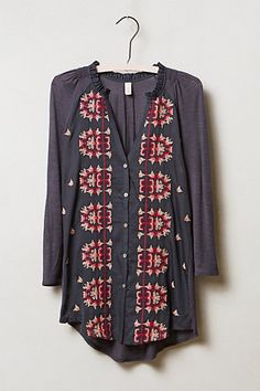 ☯☮ॐ American Hippie Bohemian Style ~ Boho Top from anthropologie....i actually really like this.