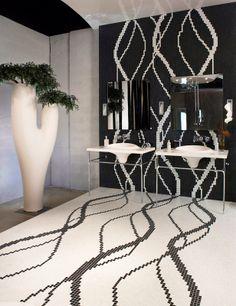 "#Mosaic: #Vitreo 155 ∙ #Shining 760 (2 x 2 cm ∙ 3/4"" x 3/4"") - #Casadecor ∙ Miami, FL ∙ USA"