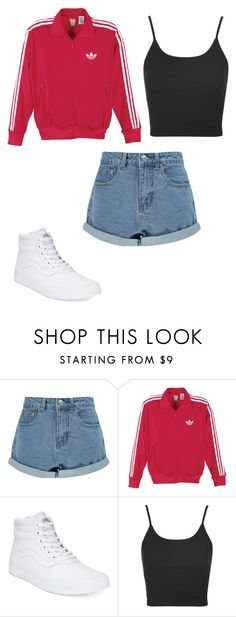 """""""Random outfit #7"""" by sarahmae-2307 ❤ liked on Polyvore featuring Boohoo, adidas Originals, Vans and Topshop"""