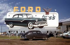 Ford for '55 billboard
