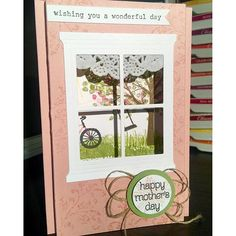 """""""mothers day is just around the corner!!! sheltering tree hearth and home thinlits die stampin up handmade cards mothers day cards shadowbox card"""" Photo taken by @georgieluvsmum on Instagram, pinned via the InstaPin iOS App! http://www.instapinapp.com (04/25/2016)"""