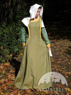 """Medieval Dress With Surcoat Garb """"Forest Queen""""."""