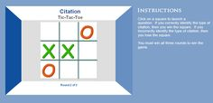 Tic-Tac-Toe Citation Game