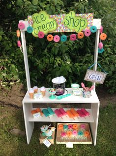 make a shop/stand for universal use in the classroom; can change shop/ goods depending on student interest and curriculum enrichment