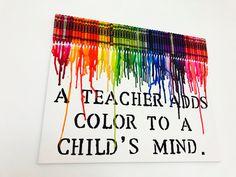 Teacher Gift  Melted Crayon Art  Teacher Appreciation Gift