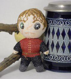 Tyrion 3D Cross Stitch Doll Pattern PDF   RobinsDesign - Patterns on ArtFire