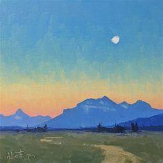 Melanie Thompson Gallery of Original Fine Art Lake Mcdonald, Gallery Website, Mountain Sunset, Fine Art Gallery, City Lights, Miniatures, Sunsets, Artist, Artwork
