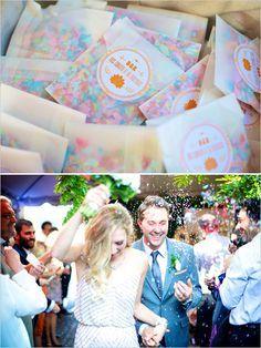 Love the confetti toss idea - and these pouches are so cute!