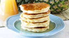 Looking for that amazing dish to serve to family or friends for breakfast or brunch ? , then how about these pineapple pancakes with a delicious coconut syrup so ideal...