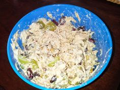 Clean chicken salad.. AMAZING!! Simple and used Greek Yogurt!! Def my new fav recipe for chicken salad!!