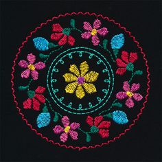 Folk Stitchery includes 2 jumbo hoop designs and 2 in-the-hoop key fobs. Phulkari Embroidery, Hand Embroidery Dress, Pillow Embroidery, Embroidery Neck Designs, Hand Embroidery Videos, Bead Embroidery Patterns, Hand Embroidery Tutorial, Hand Embroidery Stitches, Embroidery Kits