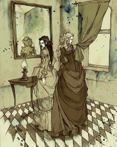 Ligeia by Mirror Cradle  - I love pretty much EVERY ONE of this artist's drawings.  Lots of amazing stuff.
