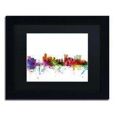 Michael Tompsett 'Winnipeg Canada Skyline' Matte, Framed Wall Art