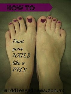 How to paint your nails like a pro - no matter how messy you are!!! It really works!!!
