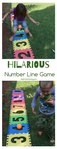 Hilarious Number Line Game Use foam number floor puzzles for this fun gross motor number line games!