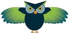 Fun Blue and Green owl from owladay.wordpress.com