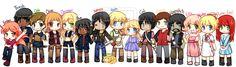The Hunger Games: Art: Manga: The hunger games characters by CamiIIe.deviantart.com on @deviantART