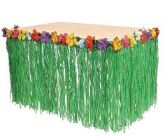 replace the grass with rainbow streamers for the food table!