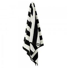 Black Stripes Bath Towel